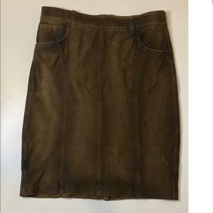 Burberry Brit leather skirt size 6